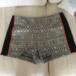 Bebe White Tribal Shorts